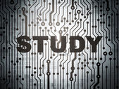 Education concept: circuit board with Study — Stok fotoğraf