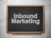 Finance concept: Inbound Marketing on chalkboard background — Stock Photo