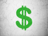 Currency concept: Dollar on wall background — Foto de Stock