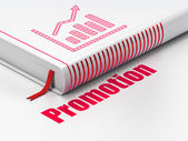 Marketing concept: book Growth Graph, Promotion on white background — Stock Photo