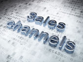 Marketing concept: Silver Sales Channels on digital background — Stock Photo