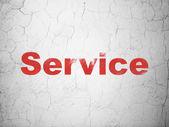 Unser geschäftskonzept: dienst auf wand-hintergrund — Stockfoto