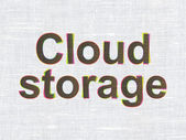 Security concept: Cloud Storage on fabric texture background — Stock Photo