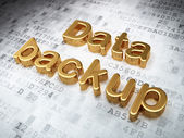 Information concept: Golden Data Backup on digital background — Stock Photo