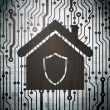 Security concept: circuit board with Home — Stock Photo
