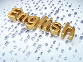 Education concept: Golden English on digital background — Foto Stock