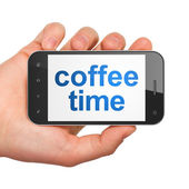 Timeline concept: Coffee Time on smartphone — Stock Photo
