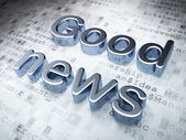 News concept: Silver Good News on digital background — Stock Photo