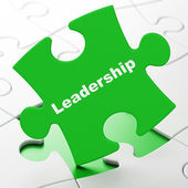 Business concept: Leadership on puzzle background — Stockfoto