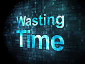 Time concept: Wasting Time on digital background — Stock Photo