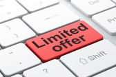 Business concept: Limited Offer on computer keyboard background — Stock Photo