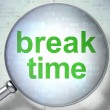 Timeline concept: Break Time with optical glass — Foto de Stock