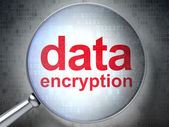 Protection concept: Data Encryption with optical glass — Stock Photo