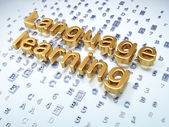 Education concept: Golden Language Learning on digital background — Stock Photo