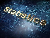 Finance concept: Golden Statistics on digital background — Stock Photo