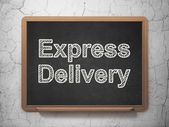 Business concept: Express Delivery on chalkboard background — Stockfoto