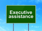 Business concept: Executive Assistance on road sign background — 图库照片