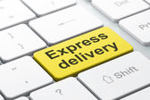 Business concept: Express Delivery on computer keyboard background — Stock Photo