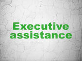 Business concept: Executive Assistance on wall background — Stock Photo