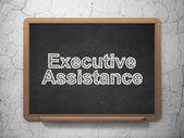 Business concept: Executive Assistance on chalkboard background — Stock Photo