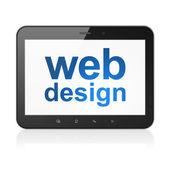 Web design concept: Web Design on tablet pc computer — Foto Stock
