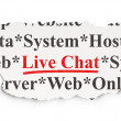 Web design concept: Live Chat on Paper background — Stock Photo
