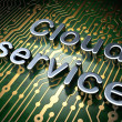 Cloud computing concept: Cloud Service on circuit board background — Stock Photo
