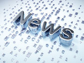 News concept: Silver News on digital background — Stock Photo