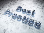 Education concept: Silver Best Practice on digital background — Stock Photo