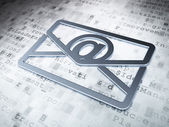 Business concept: Silver Email on digital background — Stock Photo