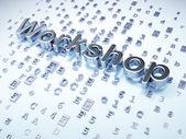 Education concept: Silver Workshop on digital background — Stock Photo