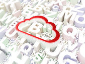 Cloud computing concept: Cloud on alphabet background — Stock Photo