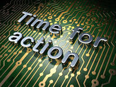 Timeline concept: Time for Action on circuit board background — Zdjęcie stockowe