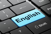 Education concept: English on computer keyboard background — Stock Photo