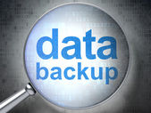 Information concept: Data Backup with optical glass — Stock Photo