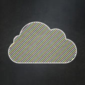 Cloud technology concept: Cloud on chalkboard background — Stock Photo