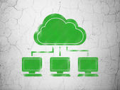 Cloud networking concept: Cloud Network on wall background — Stock Photo