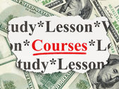 Education concept: Courses on Money background — Foto Stock