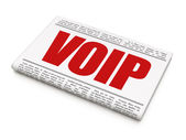 Web development concept: newspaper headline VOIP — Zdjęcie stockowe