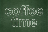 Time concept: Coffee Time on chalkboard background — Stockfoto