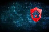 Business concept: Shield on digital background — Stockfoto