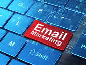 Finance concept: Email Marketing on computer keyboard background — Stock Photo
