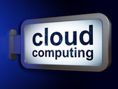 Cloud technology concept: Cloud Computing on billboard background — Stock Photo