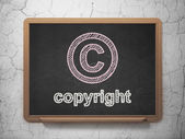 Law concept: Copyright and Copyright on chalkboard background — ストック写真
