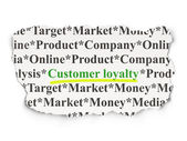 Advertising concept: Customer Loyalty on Paper background — Stockfoto