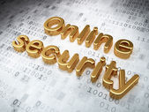 Safety concept: Golden Online Security on digital background — Stock Photo