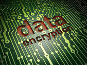 Security concept: Data Encryption on circuit board background — Stock Photo