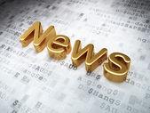 News concept: Golden News on digital background — Stock Photo