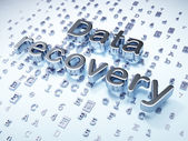 Data concept: Silver Data Recovery on digital background — Stock Photo