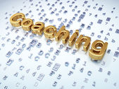 Education concept: Golden Coaching on digital background — Stock Photo